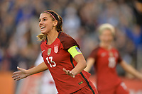 San Diego, CA - Sunday January 21, 2018: Alex Morgan prior to an international friendly between the women's national teams of the United States (USA) and Denmark (DEN) at SDCCU Stadium.