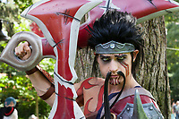 Draven of League of Legends cosplay by Jechts, Pax Prime 2015, Seattle, Washington State, WA, America, USA.