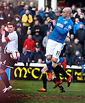 Nicky Law turns in the ball to open the scoring for Rangers