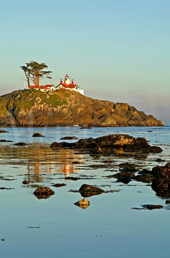 Reflection of Battery Point Lighthouse Crescent City California