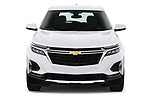 Car photography straight front view of a 2022 Chevrolet Equinox LT 5 Door SUV Front View