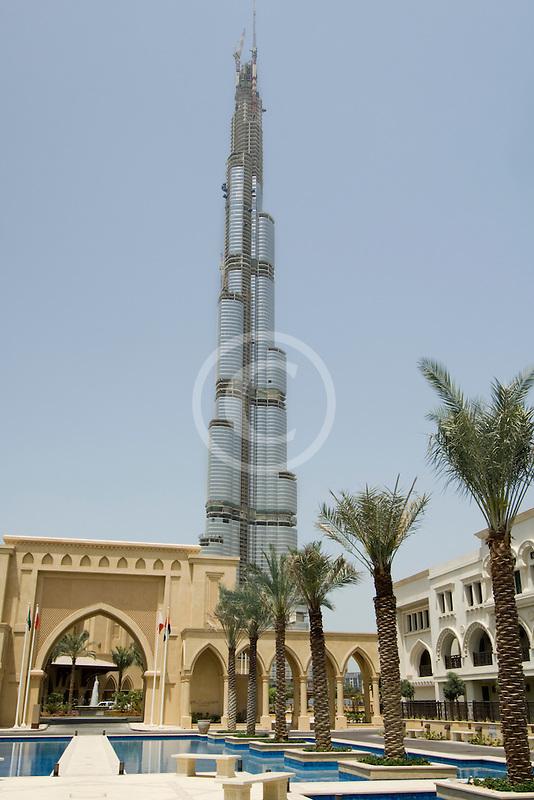 United Arab Emirates, Dubai, Burj Dubai, and Al Manzil hotel
