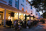 United Kingdom, England, Kent, Tunbridge Wells: Evening dining in The Pantiles.