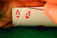 """Pocket aces"" the best starting hand in Texas Hold'em Poker."