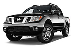 Stock pictures of low aggressive front three quarter view of 2016 Nissan Frontier PRO-4X-Crew-Cab 4 Door Pickup Low Aggressive