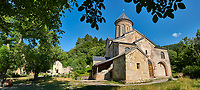 Pictures and images of St Nicholas Church in the historic medieval Kintsvisi Monastery Georgian Orthodox Monastery complex, Shida Kartli Region, Georgia (country).<br />