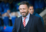 St Johnstone v Aberdeen…22.04.16  McDiarmid Park, Perth<br />Derek McInnes all smiles before kick off<br />Picture by Graeme Hart.<br />Copyright Perthshire Picture Agency<br />Tel: 01738 623350  Mobile: 07990 594431