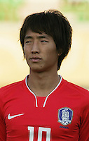South Korea's Young Cheol Cho (10) stands on the field before the FIFA Under 20 World Cup Quarter-final match between Ghana and South Korea at the Mubarak Stadium  in Suez, Egypt, on October 09, 2009.