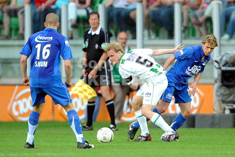 voetbal fc groningen nec play off eredivisie seizoen 2007-2008 11-05-2008  frederik stenman.Fotograaf Jan Kanning .