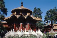 Pavillon im kaiserlichen Garten, Kaiserpalast (Gugong, Verbotene Stadt), Peking (Beijing), China, Unesco-Weltkulturerbe