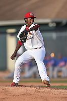 Johnson City Cardinals starting pitcher Julio Mateo (29) delivers a pitch during a game against the Kingsport Mets on June 25, 2015 in Johnson City, Tennessee. The Mets defeated the Cardinals 10-8 (Tony Farlow/Four Seam Images)