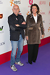 "Javi Llano and Isabel Oriol attends the ""POR ELLAS"" Concert of Cadena 100 at Barclaycard Center in Madrid, Spain. November 7, 2014. (ALTERPHOTOS/Carlos Dafonte)"