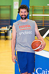 Player Sergio Llull after the first training of Spanish National Team of Basketball 2019 . July 26, 2019. (ALTERPHOTOS/Francis González)