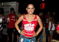 SAO PAULO, SP, 19 DE FEVEREIRO 2012 - CAMAROTE BAR BRAHMA - A atriz Carol Macedo e vista no Camarote Bar Brahma, no primeiro dia de desfiles do Grupo Especial do Carnaval de Sao Paulo, na madrugada deste domingo 19, no Sambodromo do Anhembi regiao norte da capital paulista. (FOTO: MILENE CARDOSO - BRAZIL PHOTO PRESS).