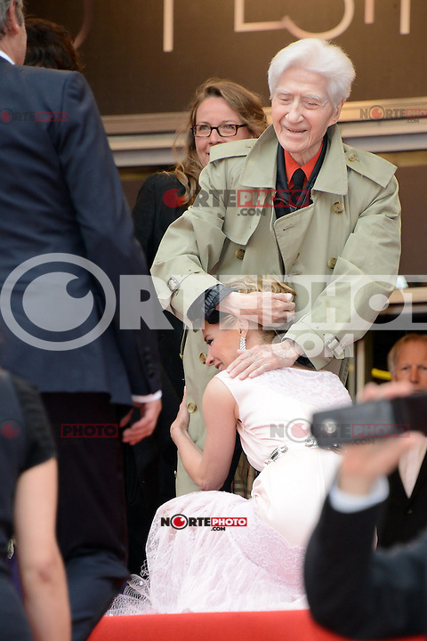 """Anne Consigny and Alain Resnais attending the """"vous n avez encore rien vu (You ain t seen nothin yet)"""" Premiere during the 65th annual International Cannes Film Festival in Cannes, 21th May 2012...Credit: Timm/face to face /MediaPunch Inc. ***FOR USA ONLY***"""