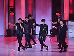 """INFINITE, Jul 24, 2014 : South Korean boy band INFINITE perform at the 10th anniversary live special of weekly music chart show, """"M! Countdown"""" of Mnet in Goyang, north of Seoul, South Korea. (Photo by Lee Jae-Won/AFLO) (SOUTH KOREA)"""