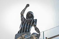 SÃO PAULO, SP 31.03.2019: CORINTHIANS-SANTOS - Estátua Dr Sócrates colocada na arquibancada. Corinthians e Santos durante o primeiro jogo, válido pela semifinal do campeonato paulista, na Arena Corinthians, zona leste da capital, na tarde deste domingo (31). (Foto: Ale Frata/Codigo19)