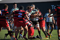 Action from the Wellington premier men's club rugby Swindale Shield match between Poneke and Old Boys University at Kilbirnie Park in Wellington, New Zealand on Saturday, 24 April 2021. Photo: Dave Lintott / lintottphoto.co.nz