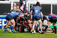 6th February 2021; Mattoli Woods Welford Road Stadium, Leicester, Midlands, England; Premiership Rugby, Leicester Tigers versus Worcester Warriors; Leicester Tigers forwards push over for their second try