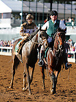 """October 04, 2015: Got Lucky and jockey Irad Ortiz Jr. win the 60th running of the Juddmonte Spinster (Grade 1) """"Win and You're In Distaff Division"""" $500,000 at Keeneland for trainer Todd Pletcher and owner Philip Steinberg and Hill 'n' Dale Equine Holdings.  Candice Chavez/ESW/CSM"""