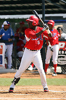 Dayan Olmo participates in the Dominican Prospect League showcase at the New York Yankees academy on September 19,2013 in Boca Chica, Dominican Republic.