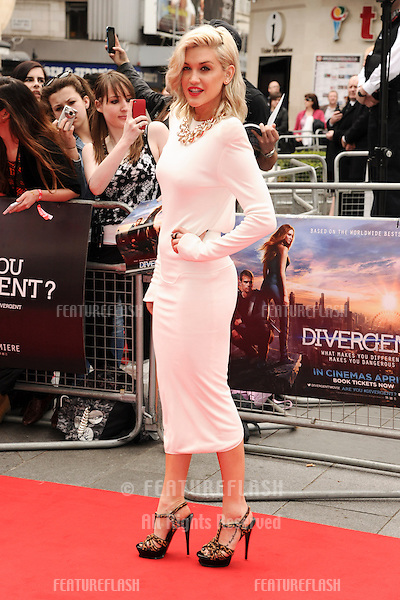 """Ashley Roberts arrives for the """"Divergent"""" UK premiere at the Odeon Leicester Square, London. 30/03/2014 Picture by: Steve Vas / Featureflash"""