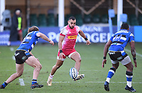 6th February 2021; Recreation Ground, Bath, Somerset, England; English Premiership Rugby, Bath versus Harlequins; Joe Marchant of Harlequins chips a grubber kick through