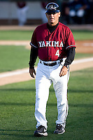 July 4, 2009: Yakima Bears manager Bob Didier coaches third base during a Northwest League game against the Everett AquaSox at Everett Memorial Stadium in Everett, Washington.