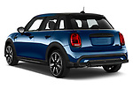 Car pictures of rear three quarter view of 2021 MINI MINI Cooper-Yours 5 Door Hatchback Angular Rear
