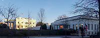 The White House at Sunset by Art Harman. The afternoon sun highlighted the White House but not the West Wing on a cold December day.