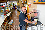 Danny Roche making a smoothie at Der O'Sullivan's The Mall on Monday morning.