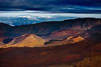 Maui's Haleakala Crater at sunset.