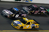 NASCAR Camping World Truck Series<br /> NextEra Energy Resources 250<br /> Daytona International Speedway, Daytona Beach, FL USA<br /> Friday 16 February 2018<br /> David Gilliland, Kyle Busch Motorsports, Pedigree Toyota Tundra, John Hunter Nemechek, NEMCO Motorsports, Fleetwing Corporation Chevrolet Silverado and Joe Nemechek, NEMCO Motorsports, D.A.B. Constructors, Inc. / Fleetwing Chevrolet Silverado<br /> World Copyright: Russell LaBounty<br /> LAT Images