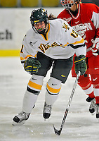 9 February 2008: University of Vermont Catamounts' forward Celeste Doucet, a Freshman from Memramcook, New Brunswick, in action against the Boston University Terriers at Gutterson Fieldhouse in Burlington, Vermont. The Terriers shut out the Catamounts 2-0 in the Hockey East matchup...Mandatory Photo Credit: Ed Wolfstein Photo