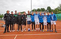 Simpeled, Netherlands, 19 June, 2016, Tennis, Playoffs Eredivisie Men, Presentatien teams, Team Nieuwekerk (R) and team Top Papendrecht<br /> Photo: Henk Koster/tennisimages.com