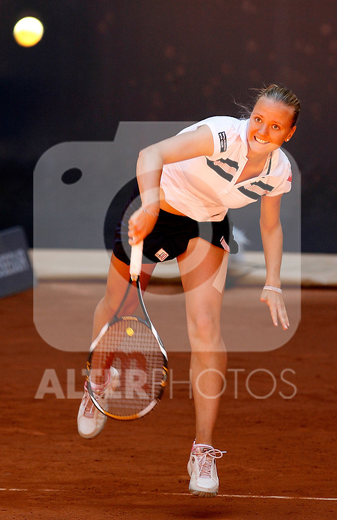 Hungary's Agnes Szavay during her Madrid Open quarter final match. May 15, 2009. (ALTERPHOTOS)