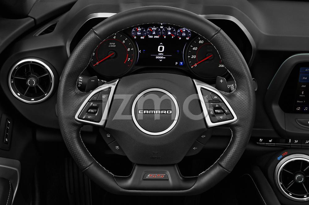Car pictures of steering wheel view of a 2020 Chevrolet Camaro 1SS 2 Door Convertible Steering Wheel