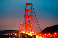 The Golden Gate Bridge in the early morning, San Francisco, California
