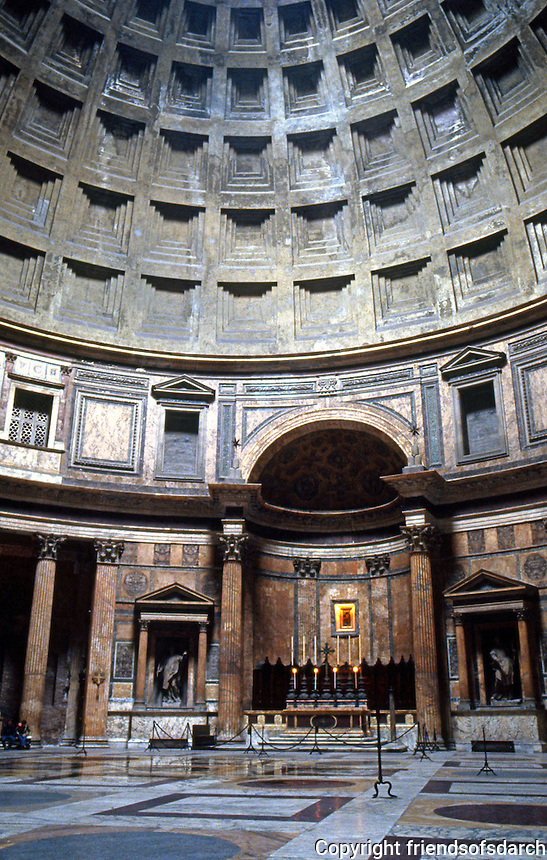 Rome: Pantheon--Interior. (Rotunda)