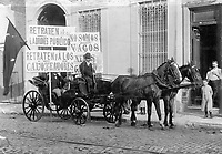 Carriage drivers on strike in Buenos Aires.1899
