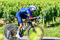 17th July 2021, St Emilian, Bordeaux, France;  ALAPHILIPPE Julian (FRA) of DECEUNINCK - QUICK - STEP during stage 20 of the 108th edition of the 2021 Tour de France cycling race, an individual time trial stage of 30,8 kms between Libourne and Saint-Emilion