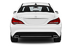 Straight rear view of 2016 Mercedes Benz CLA - 4 Door Sedan Rear View  stock images