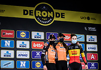 podium:<br /> <br /> 1st place: Chantal van den Broek-Blaak (NED/Boels-Dolmans)<br /> 2nd place: Amy Pieters (NED/Boels-Dolmans)<br /> 3th place: Lotte Kopecky (BEL/Lotto-Soudal)<br /> <br /> 17th Ronde van Vlaanderen 2020<br /> Elite Womens Race (1.WWT)<br /> <br /> One Day Race from Oudenaarde to Oudenaarde 136km<br /> <br /> ©kramon