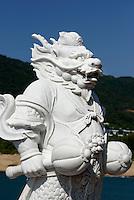 Detail Guan Yin Statue des Nanshan-Tempel bei Sanya auf der Insel Hainan, China<br /> Detail of Guan Yin Statue of Nanshan-temple near Sanya, Hainan island, China