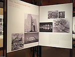 Pittsburgh PA:  View of the architectural view area of the Imaging for Modern exhibition inside the Carnegie Museum of Art.<br /> Panels highlight Brady Stewart Studio photographs along with a brief description of the company.  Photographs from the Brady Stewart Studio Archives were used in the exhibition about Pittsburgh's architectural evolution 1945-1970.<br /> The images were selected by the consultant's Over Under due to the quality and the unique city views.  From 1945 to 1970 Brady Stewart Studio was the largest commercial photography studio in western Pennsylvania.<br /> The Exhibition runs from September 1915 thru May 2016.  Press release can be found at the following internet address; http://press.cmoa.org/2015/05/27/hac-lab-pittsburgh/.