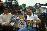 Royal Wedding of Prince Charles ands Lady Diana Spencer souvenir sellers July 29th 1981