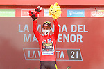 Primoz Roglic (SLO) Jumbo-Visma retains the race leaders Red Jersey at the end of Stage 8 of La Vuelta d'Espana 2021, running 173.7km from Santa Pola to La Manga del Mar Menor, Spain. 21st August 2021.     <br /> Picture: Luis Angel Gomez/Photogomezsport | Cyclefile<br /> <br /> All photos usage must carry mandatory copyright credit (© Cyclefile | Luis Angel Gomez/Photogomezsport)