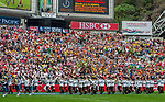 March past on Day 2 of the Cathay Pacific / HSBC Hong Kong Sevens 2013 on 23 March 2013 at Hong Kong Stadium, Hong Kong. Photo by Xaume Olleros / The Power of Sport Images