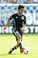 San Jose midfielder Rafael Baca (30) in action... Sporting Kansas City defeated San Jose Earthquakes 2-1 at LIVESTRONG Sporting Park, Kansas City, Kansas.