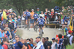 UCI 2021 Mountain Bike Cross Country World  Championships   in Commezzadura on August 28, 2021. Men Olympic,   The pack with Jordan Sarrou (FRA), Antoine Philipp (FRA), Titouan Carod (FRA) and Thomas Griot (FRA).